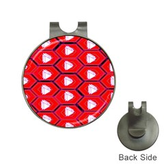 Red Bee Hive Hat Clips With Golf Markers