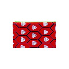 Red Bee Hive Cosmetic Bag (xs) by Jojostore