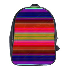 Fiesta Stripe Colorful Neon Background School Bag (large)