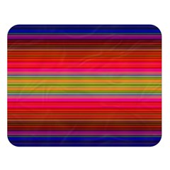 Fiesta Stripe Colorful Neon Background Double Sided Flano Blanket (large)