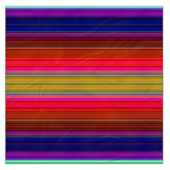 Fiesta Stripe Colorful Neon Background Large Satin Scarf (square) by Jojostore