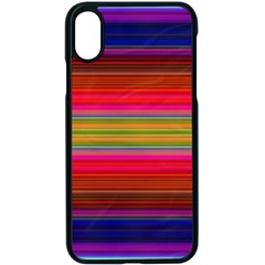 Fiesta Stripe Colorful Neon Background Apple Iphone X Seamless Case (black) by Jojostore