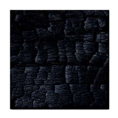 Black Burnt Wood Texture Tile Coasters by Jojostore