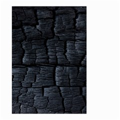 Black Burnt Wood Texture Small Garden Flag (two Sides)