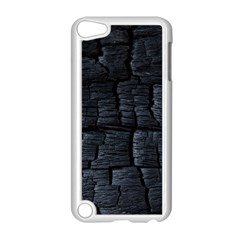 Black Burnt Wood Texture Apple Ipod Touch 5 Case (white)