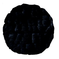 Black Burnt Wood Texture Large 18  Premium Round Cushions by Jojostore