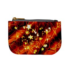 Background Pattern Lines Oval Mini Coin Purse