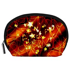 Background Pattern Lines Oval Accessory Pouch (large)