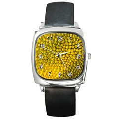 Jack Shell Jack Fruit Close Square Metal Watch by Jojostore