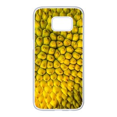 Jack Shell Jack Fruit Close Samsung Galaxy S7 Edge White Seamless Case