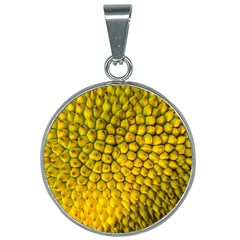 Jack Shell Jack Fruit Close 25mm Round Necklace