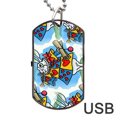 Seamless Repeating Tiling Tileable Dog Tag Usb Flash (one Side) by Jojostore