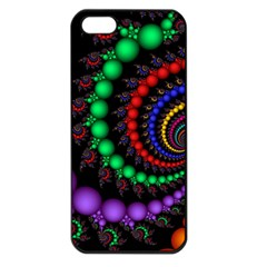 Fractal Background With High Quality Spiral Of Balls On Black Apple Iphone 5 Seamless Case (black)