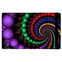 Fractal Background With High Quality Spiral Of Balls On Black Apple Ipad 3/4 Flip Case