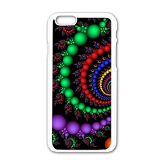 Fractal Background With High Quality Spiral Of Balls On Black Apple Iphone 6/6s White Enamel Case