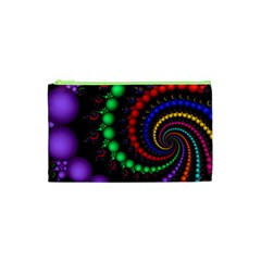 Fractal Background With High Quality Spiral Of Balls On Black Cosmetic Bag (xs)