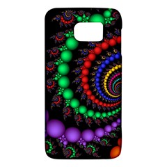 Fractal Background With High Quality Spiral Of Balls On Black Samsung Galaxy S6 Hardshell Case  by Jojostore