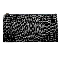 Black White Crocodile Background Pencil Cases by Jojostore
