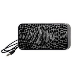 Black White Crocodile Background Portable Speaker by Jojostore