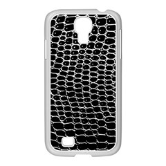 Black White Crocodile Background Samsung Galaxy S4 I9500/ I9505 Case (white) by Jojostore