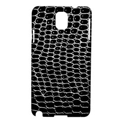 Black White Crocodile Background Samsung Galaxy Note 3 N9005 Hardshell Case by Jojostore