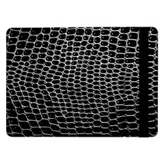 Black White Crocodile Background Samsung Galaxy Tab Pro 12 2  Flip Case by Jojostore
