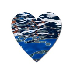 Colorful Reflections In Water Heart Magnet by Jojostore