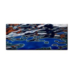 Colorful Reflections In Water Hand Towel