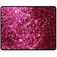 Pink Glitter Fleece Blanket (medium)  by Jojostore