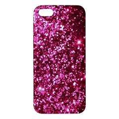 Pink Glitter Apple Iphone 5 Premium Hardshell Case by Jojostore