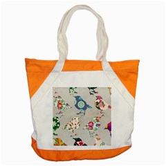 Birds Floral Pattern Wallpaper Accent Tote Bag