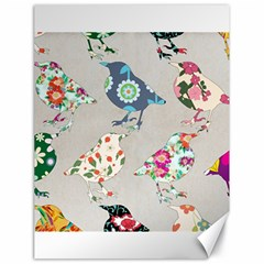 Birds Floral Pattern Wallpaper Canvas 18  X 24  by Jojostore