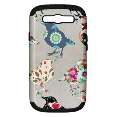 Birds Floral Pattern Wallpaper Samsung Galaxy S Iii Hardshell Case (pc+silicone)