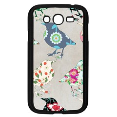 Birds Floral Pattern Wallpaper Samsung Galaxy Grand Duos I9082 Case (black)