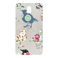 Birds Floral Pattern Wallpaper Samsung Galaxy Note 3 N9005 Hardshell Back Case