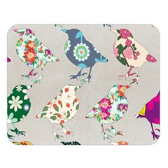 Birds Floral Pattern Wallpaper Double Sided Flano Blanket (large)