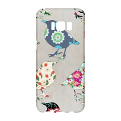 Birds Floral Pattern Wallpaper Samsung Galaxy S8 Hardshell Case  by Jojostore