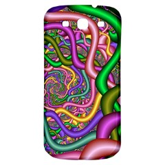 Fractal Background With Tangled Color Hoses Samsung Galaxy S3 S Iii Classic Hardshell Back Case