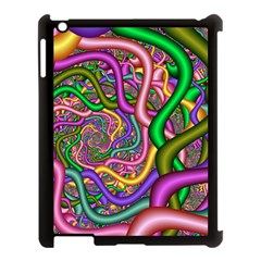 Fractal Background With Tangled Color Hoses Apple Ipad 3/4 Case (black)