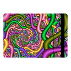 Fractal Background With Tangled Color Hoses Apple Ipad Pro 10 5   Flip Case