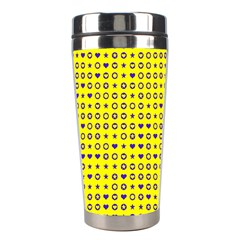 Heart Circle Star Seamless Pattern Stainless Steel Travel Tumblers by Jojostore