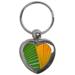 Pattern Colorful Palm Leaves Key Chains (heart)