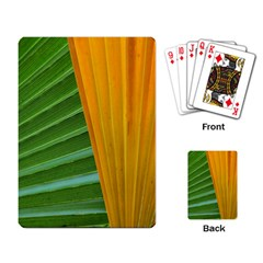 Pattern Colorful Palm Leaves Playing Cards Single Design