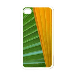 Pattern Colorful Palm Leaves Apple Iphone 4 Case (white) by Jojostore