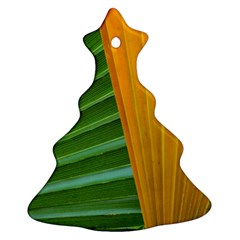 Pattern Colorful Palm Leaves Christmas Tree Ornament (two Sides)