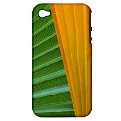 Pattern Colorful Palm Leaves Apple Iphone 4/4s Hardshell Case (pc+silicone)