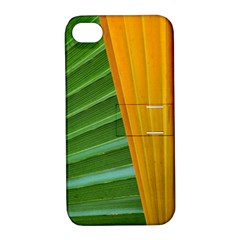 Pattern Colorful Palm Leaves Apple Iphone 4/4s Hardshell Case With Stand by Jojostore