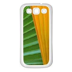 Pattern Colorful Palm Leaves Samsung Galaxy S3 Back Case (white) by Jojostore