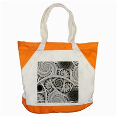 Fractal Wallpaper Black N White Chaos Accent Tote Bag