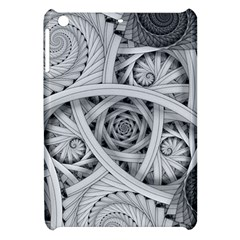 Fractal Wallpaper Black N White Chaos Apple Ipad Mini Hardshell Case by Jojostore